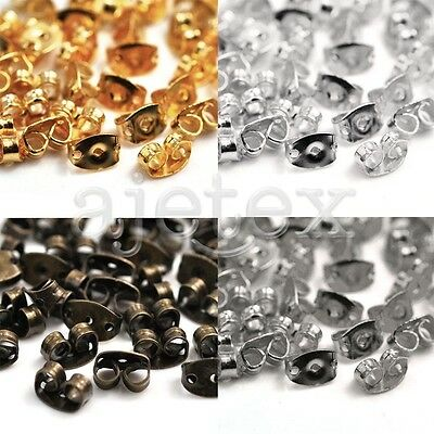 100pcs Butterfly Earring BACK STOPPERS Scrolls Findings For Stud Pin 6x4x3mm