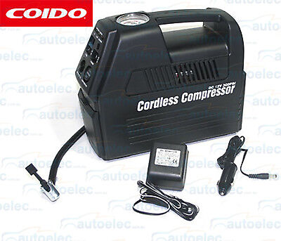 Cordless Rechargable Air Compressor & Portable Power Pack New 12V & 240V