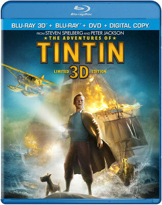 The Adventures of Tintin [New Blu-ray 3D] With Blu-Ray, With DVD, UV/HD Digita