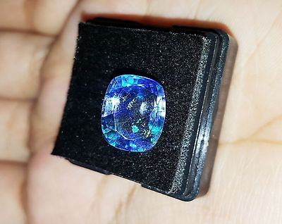 7.55 Ct Certified Cushion Shape Natural Ceylon Blue Sapphire gemstone