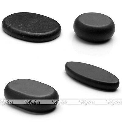 Black Message SPA Heat Hot Oval Round Basalt Stones Rock Relaxed Health 1/4/8pcs