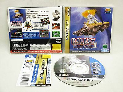 Sega Saturn Galaxy Force II 2 GOOD Condition with SPINE * Import Japan Game ss