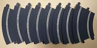 8 x C8206 SCALEXTRIC RADIUS 2 CURVES - USED - IN GOOD WORKING CONDITION