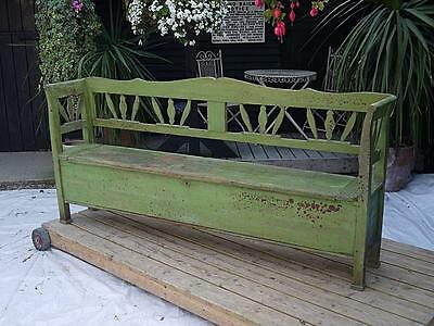 Wow! Amazing! Antique Pine (Old/original Painted) Hungarian Box Bench/settle/pew