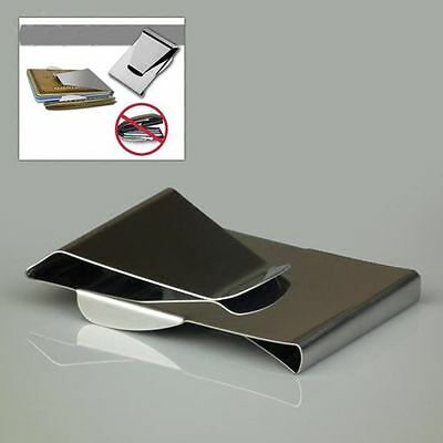 ID Double Sided Credit Holder Dollar Slim Wallet Stainless Steel Money Clip