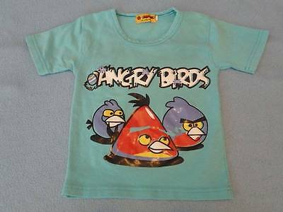 ANGRY BIRDS  Kids Tee, Size Approx.. 6-12 Months (See Listing For Measurements)