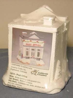 "Nip California Creations ""post Office"" 10214 Christmas Village Ready To Paint"