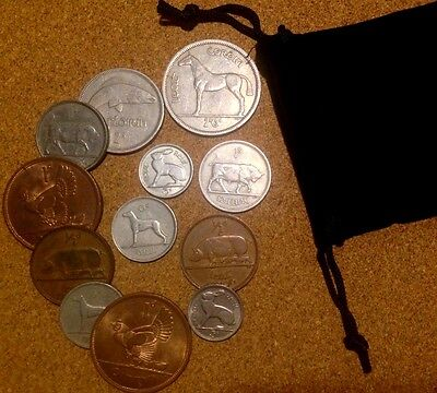 Ireland - Bag of 12 Irish Coins Half Penny To Half Crown