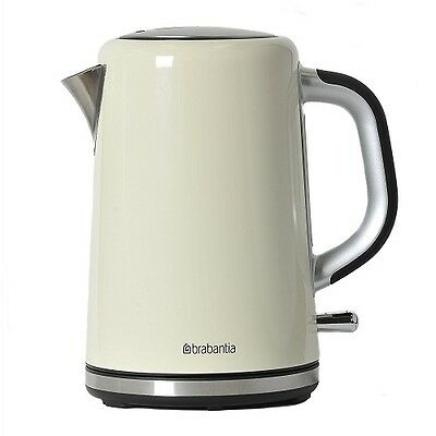 Brabantia BBEK1001-A Soft Grip Jug Kettle 1.7 Litre 3KW Almond 3 Year Warranty