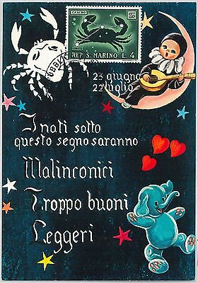 63779 -  SAN MARINO - POSTAL HISTORY: MAXIMUM CARD 1970  Horoscope ZODIAC Cancer