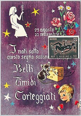 63781 -  SAN MARINO -  MAXIMUM CARD 1970  Horoscope ZODIAC 	Virgo