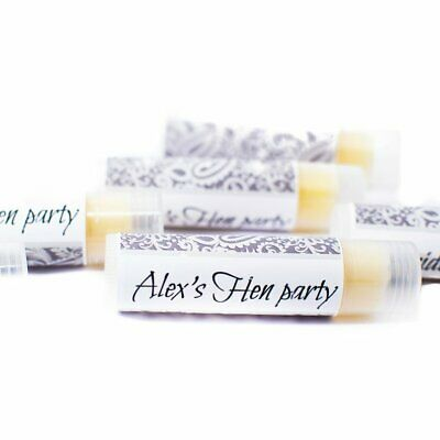 Hen party lip balm favours Bridal showers gifts personalised lip balms