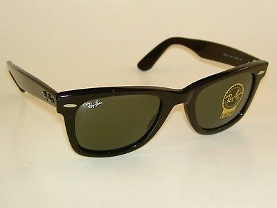 New RAY BAN Original WAYFARER Sunglasses RB 2140 901 Black Frame 50mm Medium 3a12a132f2