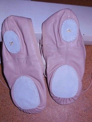 New Wolff Fording Split Sole  Leather Ballet Shoe Pink child sizes 2-4 #3545