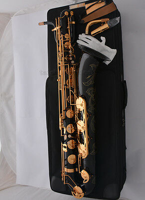 Professional Black Baritone Saxophone Eb Sax Low A High F# Exquisite Hand carved