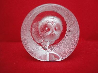 Mats Jonasson Lead Crystal Paperweight signed on base B2