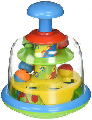 Spinning Popping Pals Baby Spinning Balls Activity Top Toy New