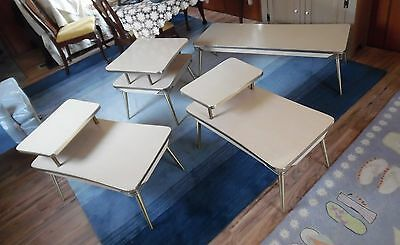 Mid Century Modern End Tables Coffee Table Formica Laminate Top Set Sweden