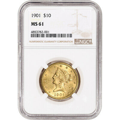 US Gold $10 Liberty Head Eagle - NGC MS61 - Random Date