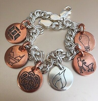Hanson Sterling Silver Charm Bracelet Anthem Loud Music Made For Humans