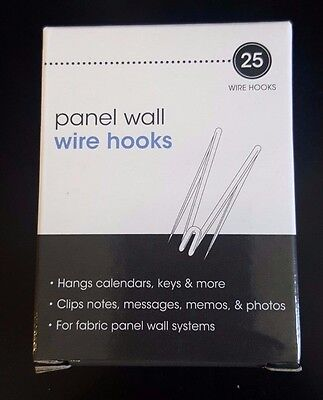 Advantus Panel Wall Wire Hooks, Silver, 25 Hooks per Pack (75370)by Advantus AOI