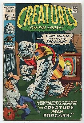 Creatures On The Loose #13 FN  The Creature From Krogarr  Marvel  Comics SA