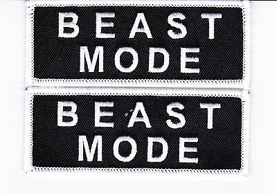 2 Beast Mode Sew/iron On Patch Embroidered Marshawn Lynch Seahawks Raiders