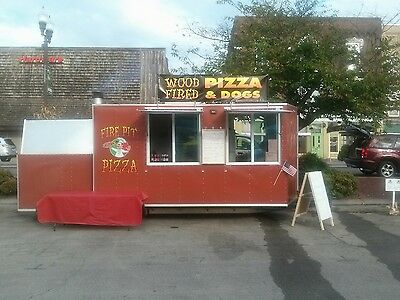 concession trailer built in brick oven all equipment included