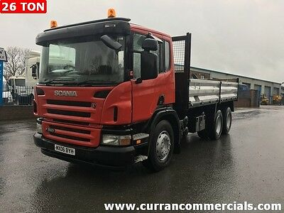 2006 Scania 124 p340 6X4 double drive 26 Ton 18ft Tipper with dropsides