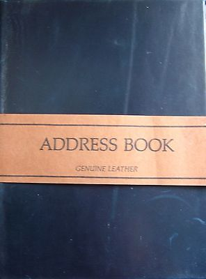 Leather Address Book 6 Hole Binder Refillable Tabbed Brown Black 6 1/4 x 8 1/2