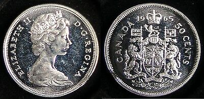 Clipped Planchet Error, 1965 Proof Like Strike, Candian 50C From Proof Like Set