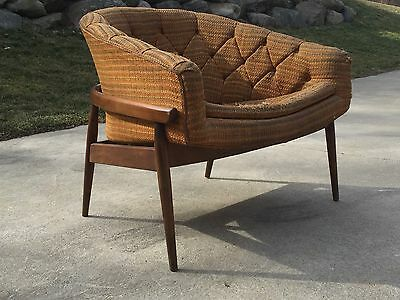Mid Century Barrel Back Milo Baughman Lounge Chair