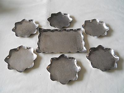 Sterling 6 Bon Bon Nut Dishes & 1 Tray