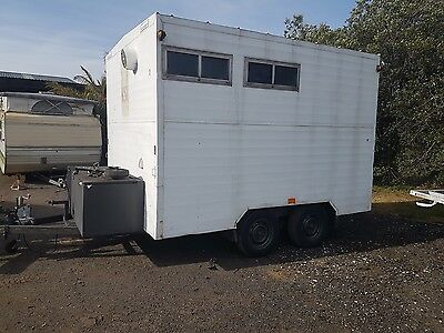 portable toilet and shower mobile trailer