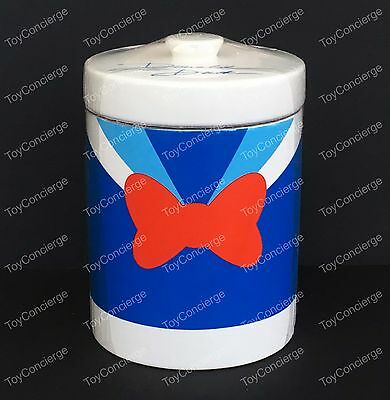 DISNEY Parks KITCHEN Cannister COOKIE Jar DONALD DUCK Colorful Ceramic NEW