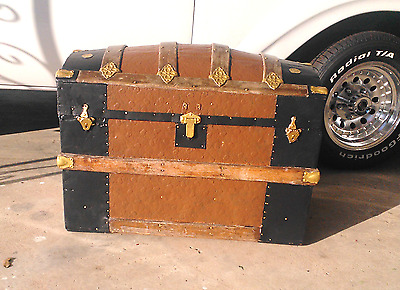 Trunk--Camel Back /hump Back Antique Trunk---Now-- 20% Off ---20% Off
