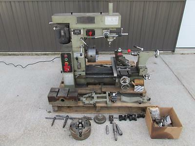 Smithy Midas Multi-Purpose Lathe Mill Milling Machine Combo 3 in 1 DRO + TOOLING