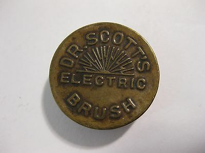 1880s Dr. Scott's Electric Brush Advertising Compass Used With Quack Device