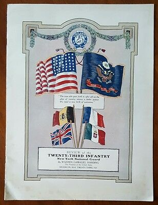 President HARDING 23rd Infantry Review * NY National Guard 1921 Program BROOKLYN