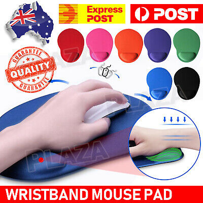 Color Optical Mouse Pad Comfort Wrist Soft Gel Support Mat PC Laptop Computer