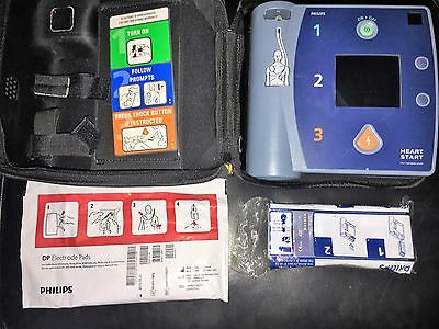 PHILIPS HEARTSTART FR2+ AED w/ 2 BATTERIES, & 1 set of PADS ADULT DEFIBRILLATOR