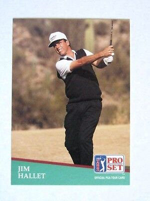 Pro Set 1991 Pga Tour Golf Card # 116. Jim Hallet