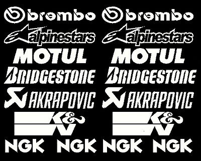 Belly Pan Motorbike Fairing Decals Stickers Set B (others sets avail visit shop)