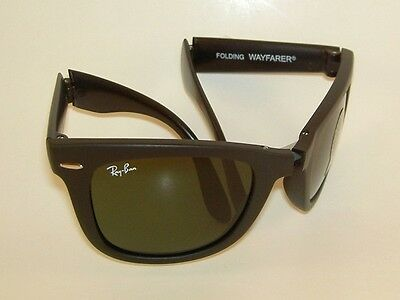 ad68666ddab37 New RAY BAN Sunglasses FOLDING WAYFARER Matte Black RB 4105 601S 54mm Large