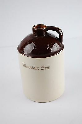 "Vtg Mountain Dew 5"" Pottery Whiskey Jug 22K Gold Made In Usa"