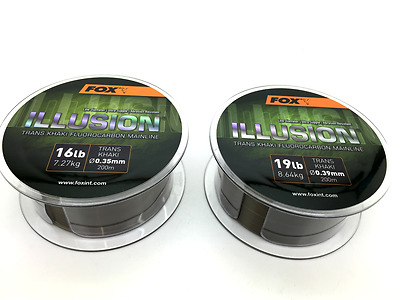 Fox Illusion Trans Khaki Fluorocarbon Mainline 200m Spool