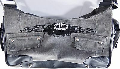 Coca-Cola Coke Black Gray Shoulder Bag Soda Hand Purse Authentic *FLAW*