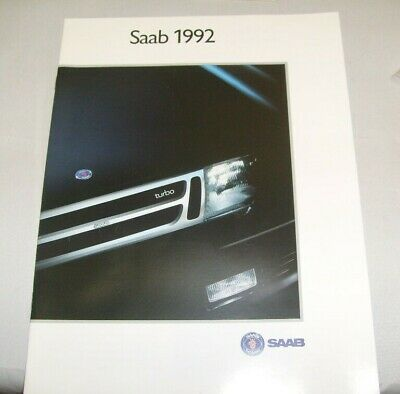 1992 Saab Catalog Sales Brochure 900 9000 CD Excellent Original 92  /e5