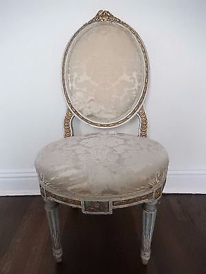 antique late 18th century chair,  french Louis chair  - needs repairs