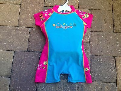 Body Glove Kids Girls Swim Trainer Suit Size Large Weight 45-60 Pounds SPF50+
